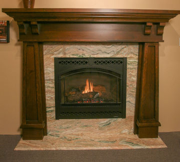 Beautiful hand-carved wood fireplace mantels are made to your specifications by the craftsmen at Funda-Mantels in Mastic